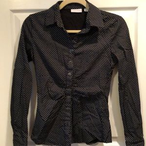 NY&Co Black Button Down Top